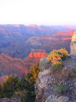 Sun going down on the Grand Canyon