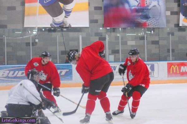 Kings rookie practices