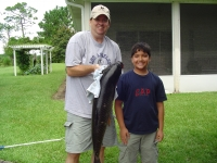 B-MEL and Son with Big Ass Fish