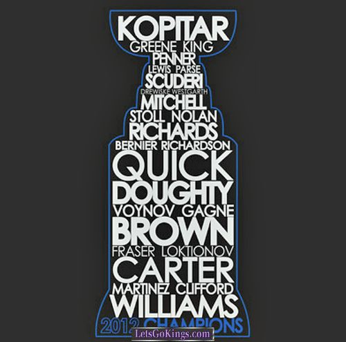 Kings Names on the Stanley Cup