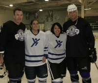 Dave Taylor and Rob Blake support charity games by